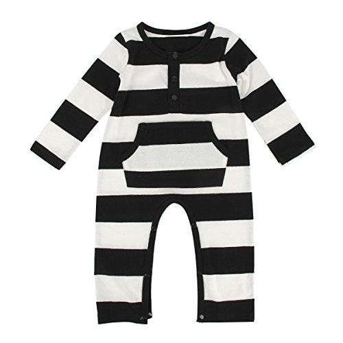 puseky Baby Jungen (0-24 Monate) Spieler Mehrfarbig schwarz / weiß Gr. 92, schwarz / weiß
