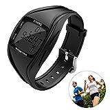 OZUAR Armbanduhr und Fitness Armband Wasserdicht IP67/50m Activity Tracker zum Genauen Verfolgen von Schritten Schrittzähler Uhr für Damen und Herren (Schwarz)