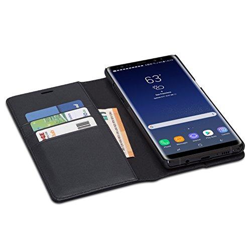 Custodia CASEZA Zurich rimovibile a portafoglio per iPhone X - Marrone – Eccellente cover in pelle sintetica 2 in 1 a libro magnetica per iPhone X originale – La più flessibile custodia Nero Galaxy Note 8