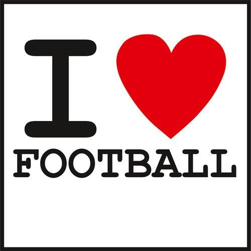 Aufkleber I Love Football Sticker Fußball Stadion Sport
