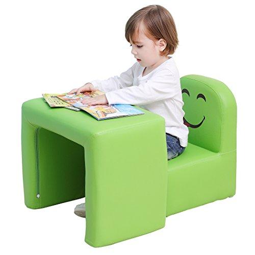 Emall Life Set tavolo e sedia multifunzionale per bambini, diventa una poltrona per bambini con divertente sorriso per maschietti e femminucce