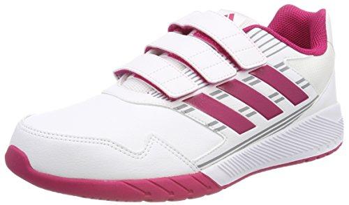 adidas Mädchen Altarun CF K Laufschuhe Weiß (Footwear White/Bold Pink/Mid Grey) 38 EU (Tennis-fußball-kinder)