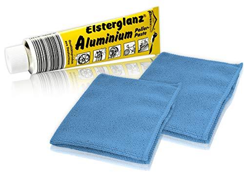 Helmecke & Hoffmann * Elsterglanz Aluminium-Polierpaste XXL-Tube 150 ml + Zwei Mikrofaser-Tücher | Das Original aus Deutschland