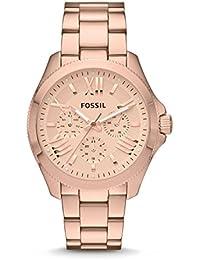 Fossil Damen-Armbanduhr Analog Quarz Edelstahl AM4511