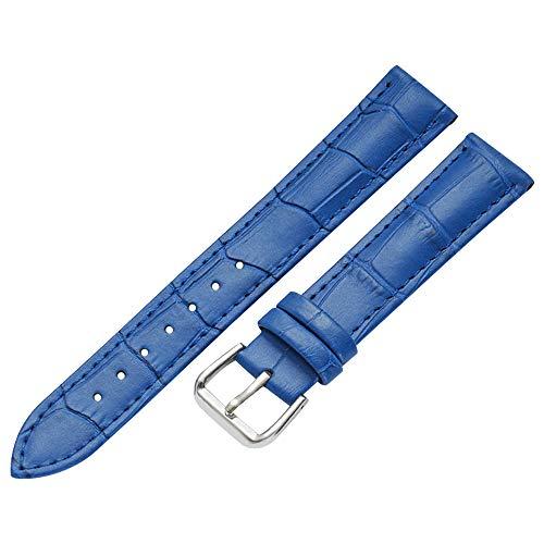 Band 17mm Uhr Ersatz blau Gurt Armband Leder Uhr für Herren (Vintage-rolex-uhren Für Frauen)