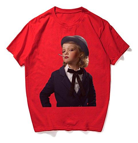 c2adfb9846655d RuiXie Unisex Übergrößes Hip-Hop T-Shirt - mit tifer Schalternaht Kurzarm  rauchendes Mädchen