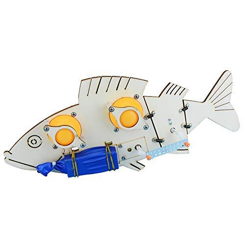 Robofish Roboter Fisch Baukasten Schwimmt wie ein echter Fisch im Wasser STEM Robotik und Technikbaukasten MINT Wissenschaft Physikbaukasten Lernen Forschen Basteln und Modellbau Gadget 2019