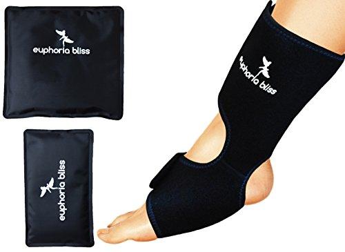 Fuß- und Knöchel-wiederverwendbar Ice-Pack, heiß-/Kalt-Gel-Packs, mikrowellengeeignet, gefrierergeeignet, geeignet für Plantarfasziitis, Achillessehnenentzündung, Arthritis, Schwellung,/Wunde (XS-XL)