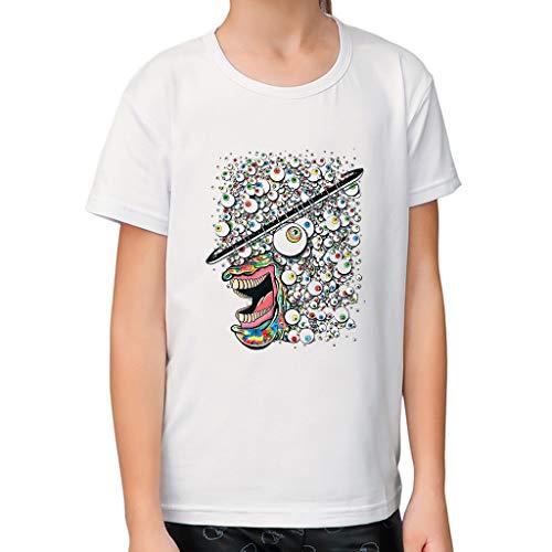 feiXIANG T-Shirt Mädchen Kleidung Outfits Rundhals Bekleidung Kleinkind Baby Sommer Kurzarm Beiläufiges Blusen (Weiß,XL/3-4 ()