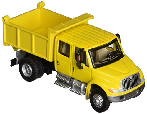 Walthers SceneMaster International 4300 Crew Cab Dump Truck, Yellow