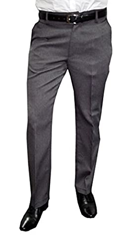 Mens Fashion Herren Anzughose mit Bügelfalte, Grau, Gr