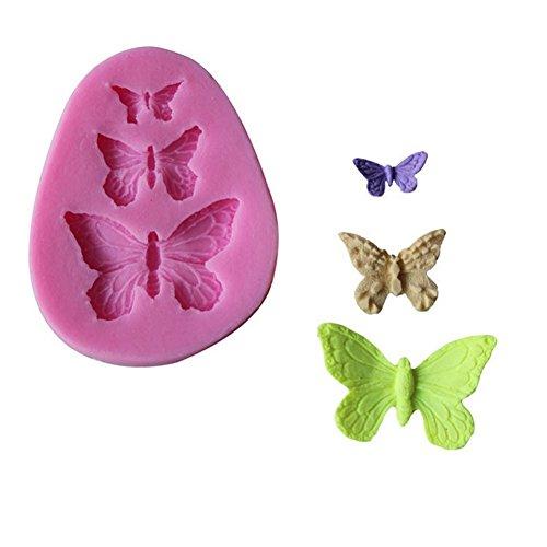 rling Fondant Formen von 3pcs Butterfly Silicone Mold Dekoration für Kuchen Cupcake Topper Cookie Biscuit Zufällige Farbe, Silikon Formen Serie Size 7.2 * 5.7 * 0.9cm ()