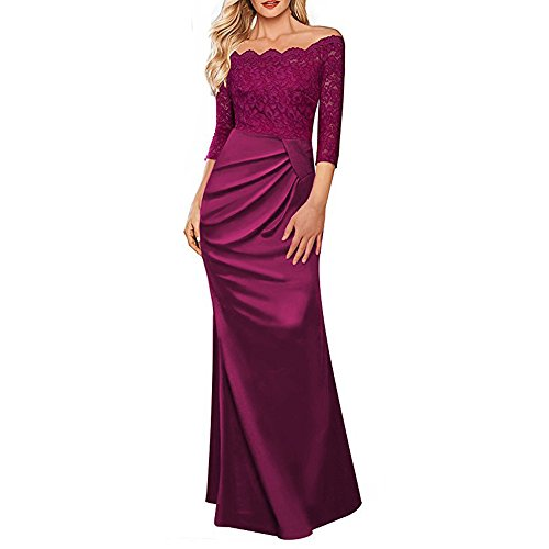 SEWORLD Karneval Carnival Fasching Damen Schulterfreies Formales Langes Maxi Abendparty ()