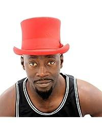 Amazon.it  Cappello a cilindro - Rosso   Cappelli e cappellini ... d88f7b022c50