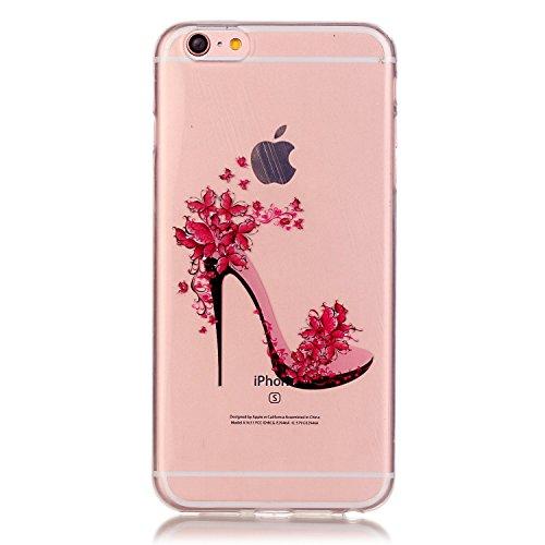 Handyhülle iPhone 6S Silikon, LuckyW TPU Handyhülle für Apple iPhone 6 6S(4.7 zoll) Soft Silikon Tasche Transparent Schale Clear Klar Hanytasche Durchsichtig Rückschale Ultra Slim Thin Dünne Schutzhül High Heel