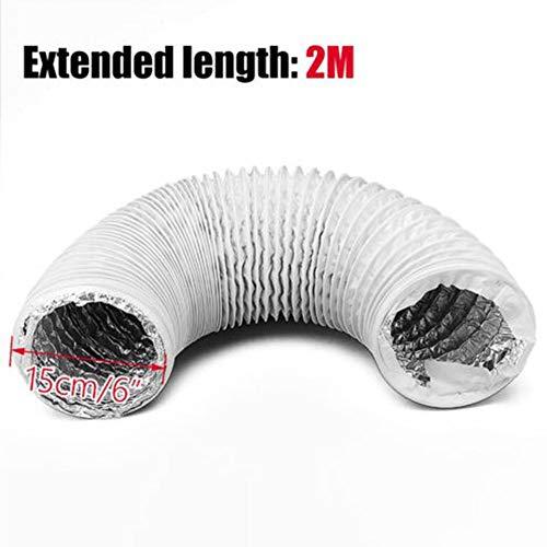 Abluftschlauch Aluminium Folienschlauch für Klimaanlage Teleskopentlüftungsauspuffrohr ipe150mm -