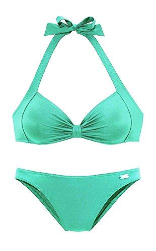 BUFFALO Marken-Bandeau-Bikini türkis Größe 38 D-Cup