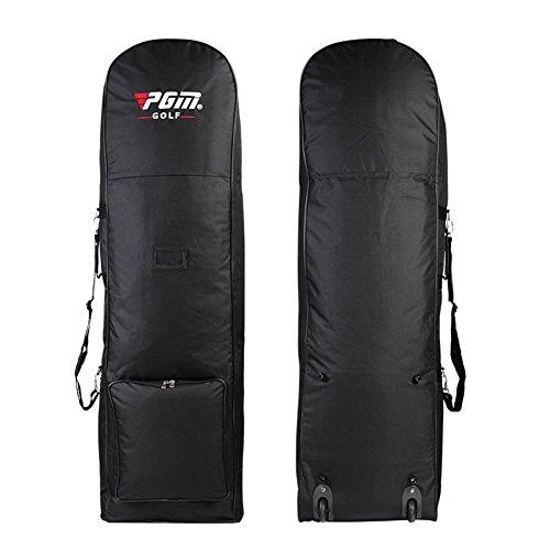 PGM POUR Club de golf sac de voyage–--- noir, avec Roues, en nylon