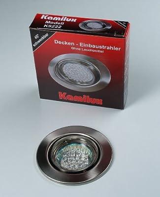 3 x LED Einbauleuchte 20er LED-Spot Tom edelstahl-gebürstet 230V Warmweiss von Kamilux GmbH bei Lampenhans.de
