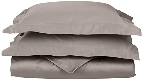 One tinta unita copripiumino con 2federe camera da letto copripiumone set tutte le dimensioni, cotone egiziano, light grey, matrimoniale ikea