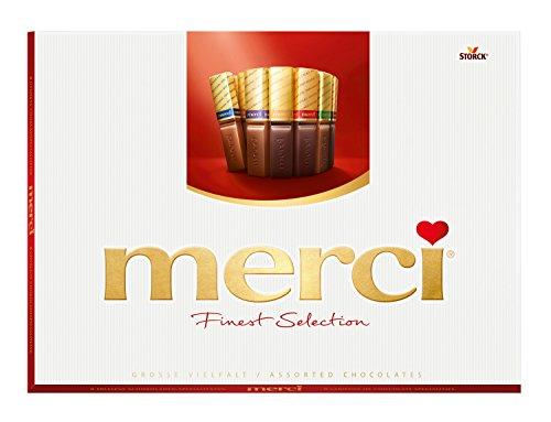 merci Finest Selection – Große Vielfalt – das Dankeschön von Herzen – erlesene Schokoladen-Spezialitäten – 1er Pack (1 x 675 g)
