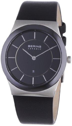 Bering Time - 32235-442 - Montre Homme - Quartz Analogique - Bracelet Cuir Noir