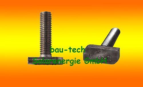 10 Stück Hammerkopfschrauben M8 x 20 von bau-tech Solarenergie