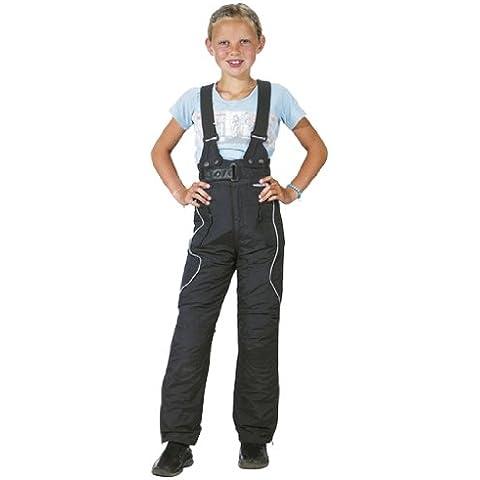 Roleff Pantalón de Motorista para Niños Racewear, Negro, L/152