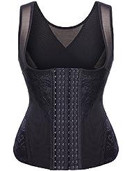 6 Row Hook Sweat Vest Tank Top Shapewear Korsage Korsett Sauna Suit