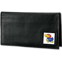 NCAA Kansas Jayhawks Deluxe Leather Checkbook Cover