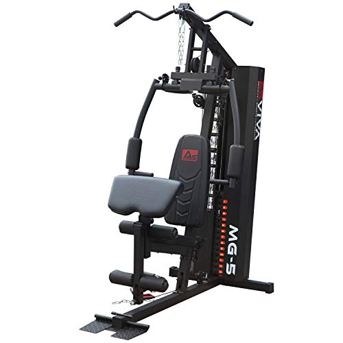 AsVIVA Kraftstation MG5 Pro 35in1 90 kg Multi-Gym inkl. 90kg Gewichtsblöcke, Massive Fitnessstation, Power Homegym