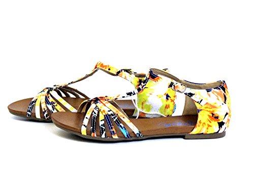 Refresh Damen Sandaletten gelb-kombi (gelb) 61735 257 JEANS gelb-kombi