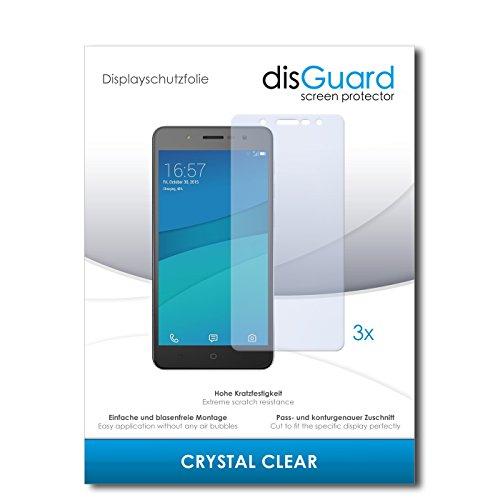 disGuard® Displayschutzfolie [Crystal Clear] kompatibel mit Hisense L671 [3 Stück] Kristallklar, Transparent, Unsichtbar, Extrem Kratzfest, Anti-Fingerabdruck - Panzerglas Folie, Schutzfolie