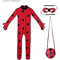 Hangaga Código S de Siete Estrellas Ladybug Anime de Halloween Ropa Medias del Cuerpo de los niños (Enviar Bolsa máscara de Ojo)