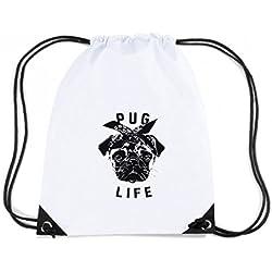 T-Shirtshock - Mochila Budget Gymsac FUN0106 05 07 2013 Pug Life T SHIRT det, Talla Capacidad 11 litros