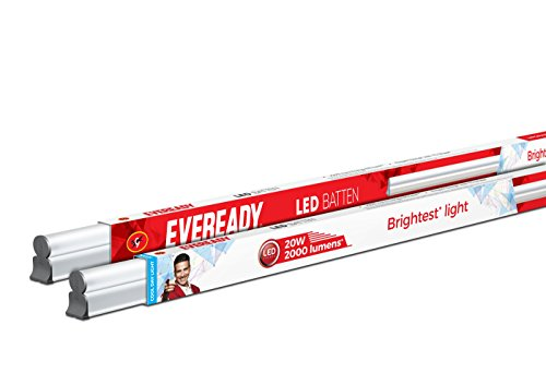 Eveready 20-Watt LED Batten (Pack of 2, Cool Day Light)