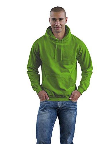 JH001 College Hoodie Kapuzenpullover Sweatshirt Kapuzensweatshirt, Farbe:Lime Green;Größen:M M,Lime Green - Green Hoodie Männer Lime