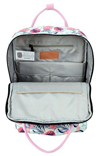 HotStyle Magnolie Damen Rucksack Schulrucksack mit Laptopfach (37x26x13cm) D180A, Pläne, Rosa