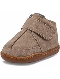 Little Blue Lamb–Zapatos para bebé unidad lernschuhe Booties Botas ante plisadas 28129marrón