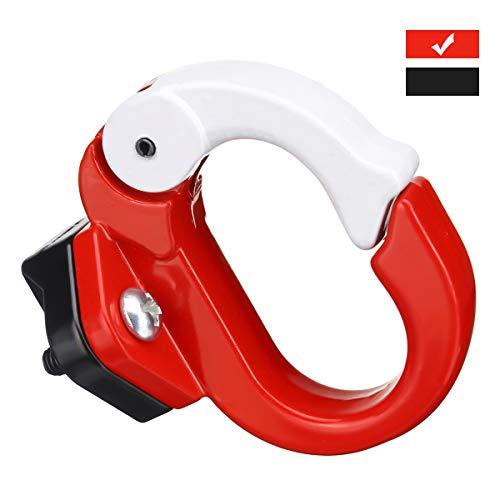 Charminer Kit de Montaje de Ganchos de Metal Adecuado Estante para Xiaomi Scooter Eléctrico, Accesorios de Bicicleta Rojo Rojo