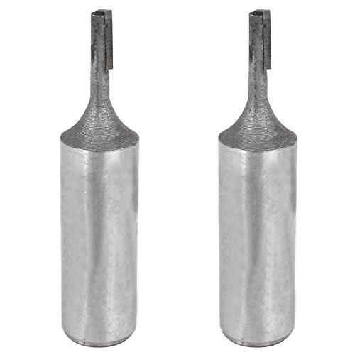 1% 2F2% 2F32 stelo singolo diametro di 5 Flute-Punta per elettrofresatrice, dritta, 2 pezzi