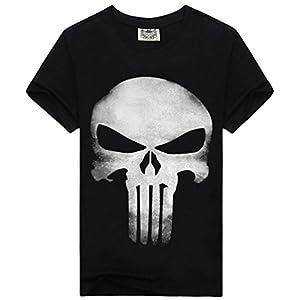 Kairuun Hombre Camisetas Divertidas Calavera