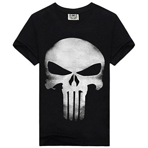 Kairuun Hombre Camisetas Divertidas Calavera Hip-Hop T-Shirts...