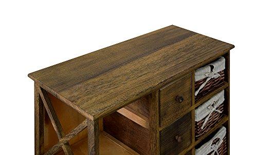 Credenza Per Cucina Country : Rebecca mobili credenza mobile multiuso cassetti ceste legno