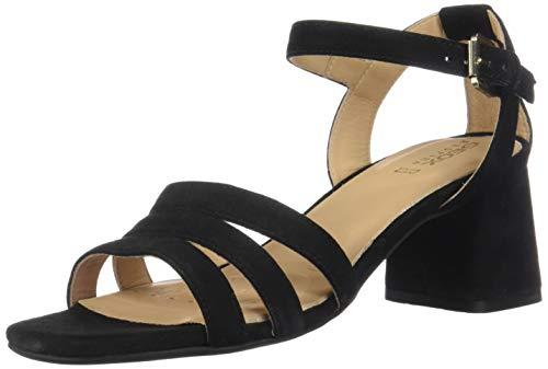 Geox seyla sandalo donna in suede tacco medio altezza 6cm d92dud - 40 - scarlet