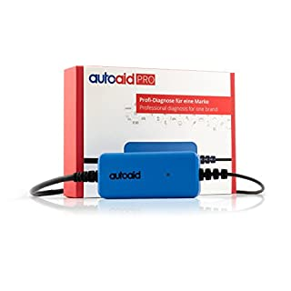 autoaid® Pro Kfz Diagnosegerät für VAG - herstellerspezifische Tiefendiagnose für alle Audi VW Seat Skoda inkl. Servicerückstellung, Parkbremse, Codierungen und Anpassungen