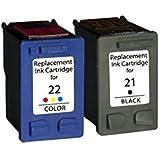 Pack Compatible HP 21 Noir + HP 22 Couleurs
