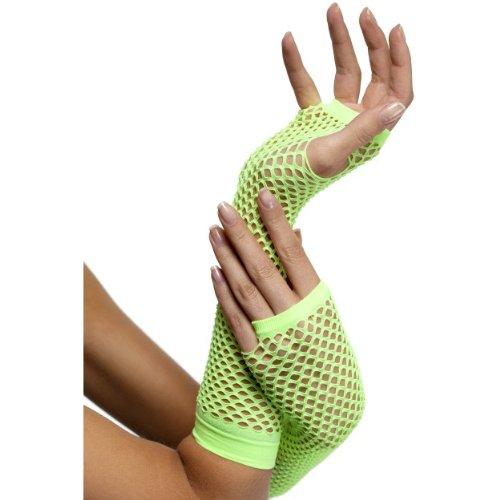 Smiffys Halloween Kostüm Zubehör Netz Handschuhe lang grün sexy zu - Handschuhe Sexy Kostüm Zubehör