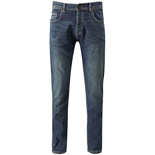 Slim Fit Jeans in verwaschener Optik von Charles Wilson Dunkle Waschung