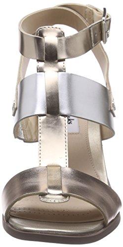 Clarks Image Crush, Sandales Bout Ouvert Femme Multicolour (Metallic Multi)
